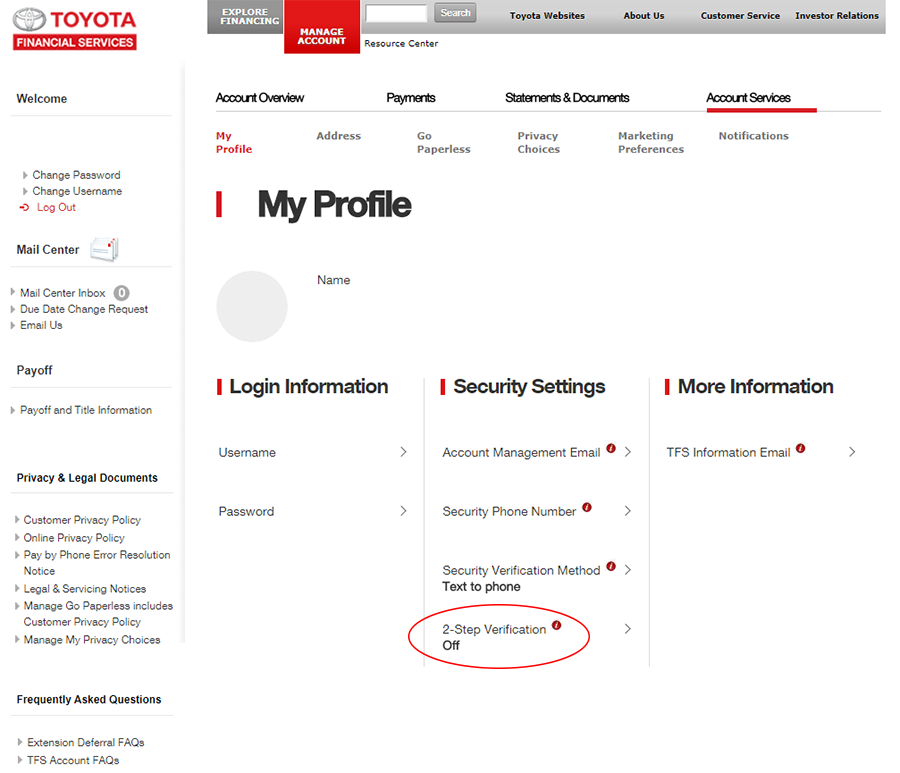 Toyota Pay By Phone >> Toyota Financial Security Codes All The Time Prism Help Support